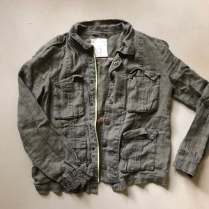 Army Green linen jacket